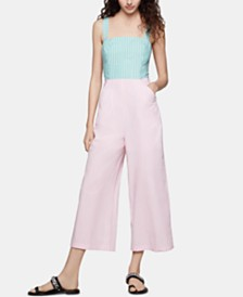 BCBGeneration Colorblocked Cropped Jumpsuit
