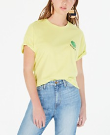 Rebellious One Juniors' Talk To The Palm Graphic T-Shirt