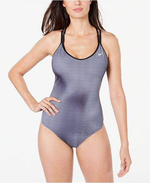 Nike Color Fade Strappy-Back One-Piece Swimsuit