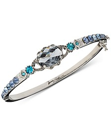 Silver-Tone Stone Bangle Bracelet