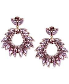 Deepa Crystal Cluster Circle Drop Earrings
