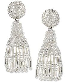 Deepa Beaded Fringe Drop Earrings