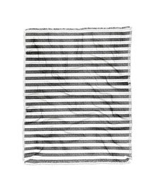 Little Arrow Design Co Stripes In Grey Woven Throw Blanket