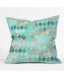 Monika Strigel Summer Mermaid Mint And Gold Throw Pillow