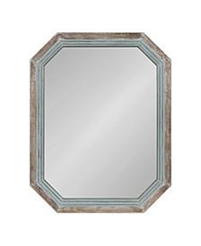 Palmer Wood Octagon Wall Mirror