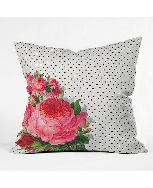Deny Designs Allyson Johnson Floral Polka Dots Throw Pillow