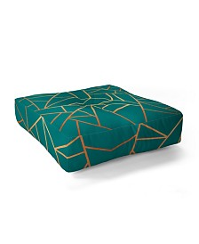 Elisabeth Fredriksson Copper And Teal Square Floor Pillow