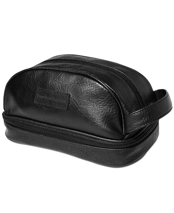 Perry Ellis Portfolio Men's Gift Faux Leather Portfolio Toiletry and Travel Kit