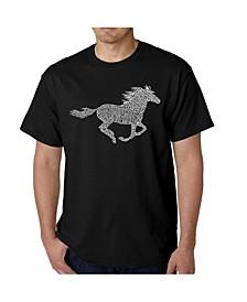 Mens Word Art T-Shirt - Mustang