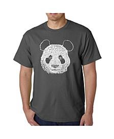 Mens Word Art T-Shirt - Panda Head