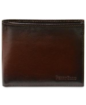 Perry Ellis Men's Leather Michigan Slim Ombre Bifold Wallet