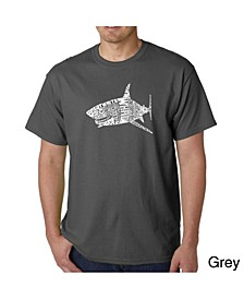 Mens Word Art T-Shirt - Shark Species