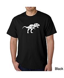 Mens Word Art T-Shirt - T-Rex Skull