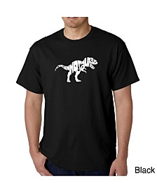 LA Pop Art Mens Word Art T-Shirt - T-Rex Skull