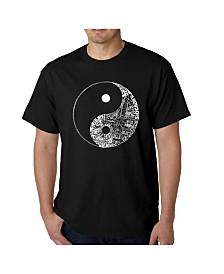 LA Pop Art Mens Word Art T-Shirt - Yin Yang
