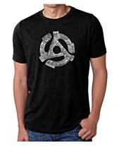 72635b47a680da LA Pop Art Mens Big and Tall Premium Blend Word Art T-Shirt - Record