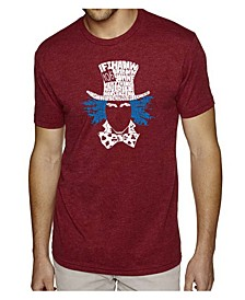 Mens Premium Blend Word Art T-Shirt - The Mad Hatter