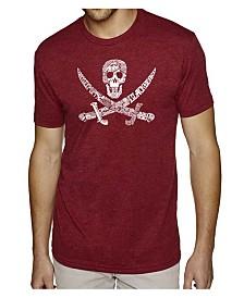 LA Pop Art Mens Premium Blend Word Art T-Shirt - Pirate