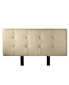 MJL Furniture Designs Ali Button Tufted Upholstered Full Headboard