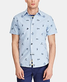 Men's Classic-Fit Print Oxford Shirt