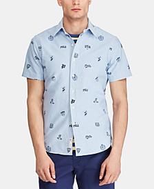 Men's Classic-Fit Print Oxford Shirt