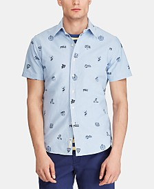 Polo Ralph Lauren Men's Classic-Fit Print Oxford Shirt