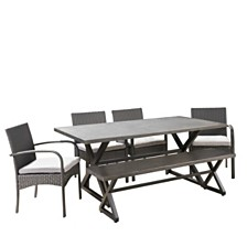 Palermo Outdoor 6pc Dining Set, Quick Ship