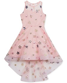 Rare Editions Big Girls Embroidered Stars Dress