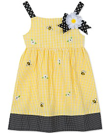 Rare Editions Little Girls Seersucker Bumblebee Dress