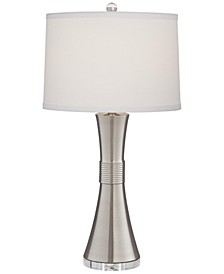 Brushed Nickel and Crystal Table Lamp