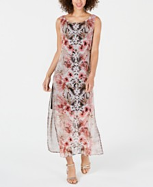 Connected Floral & Animal-Print Maxi Dress
