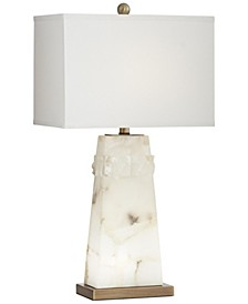Alabaster Table Lamp with Nightlight