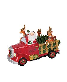 Fitz and Floyd Holiday Musical Santa Tree Truck