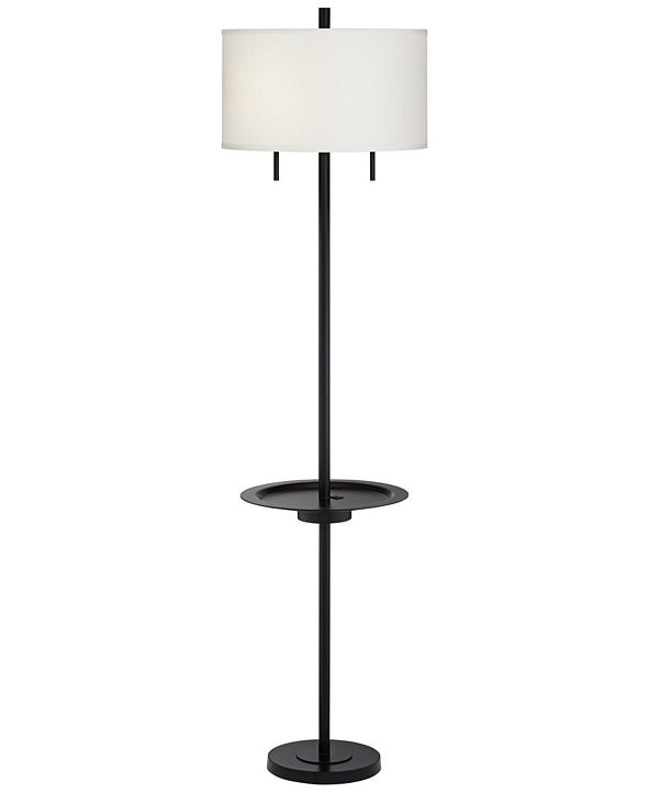 Pacific Coast Metal Floor Lamp with Tray and USB Port