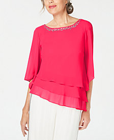Alex Evenings Petite Tiered Blouse
