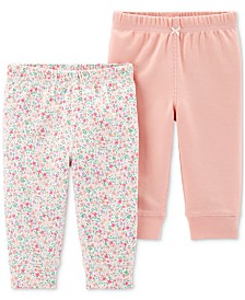 Carter's Baby Girls 2-Pk. Cotton Pants