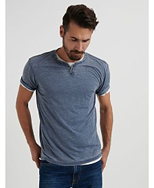 Lucky Brand Men's Venice Burnout Notch T-Shirt