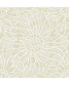 """Brewster Home Fashions Daydream Abstract Floral Wallpaper - 396"""" x 20.5"""" x 0.025"""""""