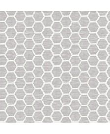 "Brewster Home Fashions Aura Honeycomb Wallpaper - 396"" x 20.5"" x 0.025"""