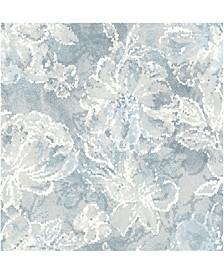 """Allure Floral Wallpaper - 396"""" x 20.5"""" x 0.025"""""""