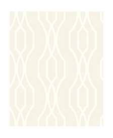 "Coventry Trellis Wallpaper - 396"" x 20.5"" x 0.025"""