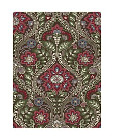 "Brewster Home Fashions Night Bloom Damask Wallpaper - 396"" x 20.5"" x 0.025"""