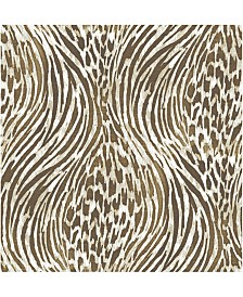 "Brewster Home Fashions Splendid Animal Print Wallpaper - 396"" x 20.5"" x 0.025"""