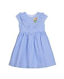 Cap Sleeve Seersucker Dress