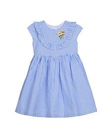 Laura Ashley Toddler and Little Girl's Cap Sleeve Seersucker Dress