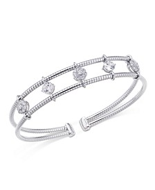 Crystal Two-Row Cuff Bracelet, Created for Macy's