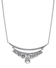 "Cubic Zirconia Double-Row Statement Necklace, 16"" + 1"" extender, Created for Macy's"
