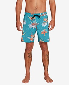 "Men's Sand Bar 17"" Floral Graphic Swim Trunks"