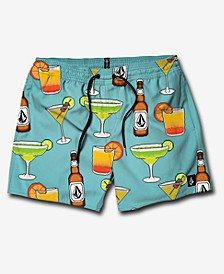 "Men's Graphic 17"" Swim Trunks"
