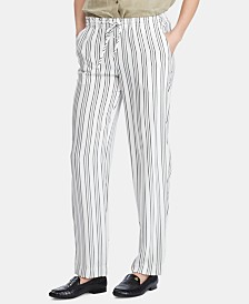 Lauren Ralph Lauren Stripe-Print Lightweight Straight Pants
